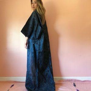 Jackets & Blazers - Vintage Deep Sapphire Diamond Kimono